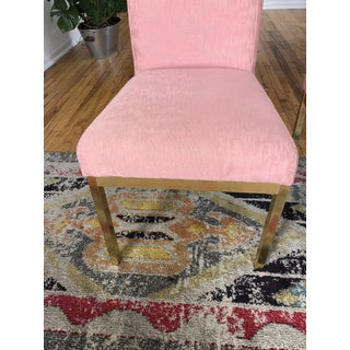 Hollywood Regency Pink Upholstered Dining Chairs - Set of 4 Preview