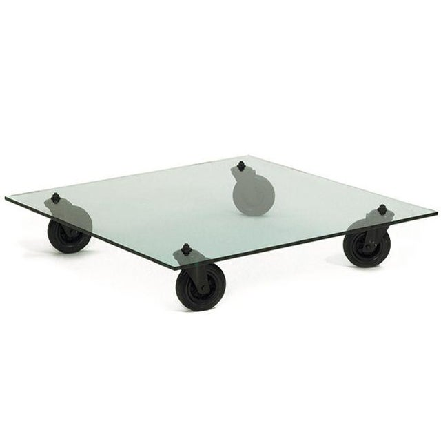 Black Coffee Table by Gae Aulenti for Fontana Arte, 1980s For Sale - Image 8 of 8