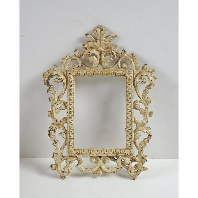 Vintage Shabby Chic Iron Picture Frame - Image 2 of 4