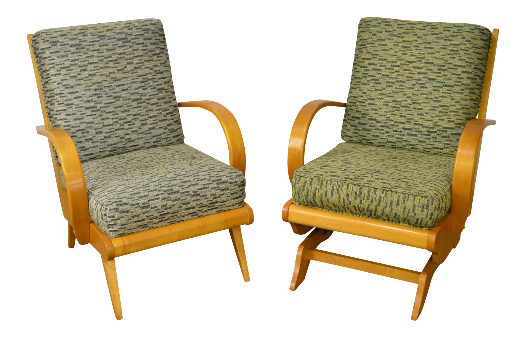 Delightful Russel Wright Mid Century Modern Lounge Chairs   A Pair