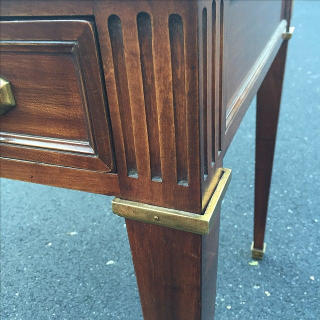 Antique Regency Leather Top Writing Desk - Image 8 of 9