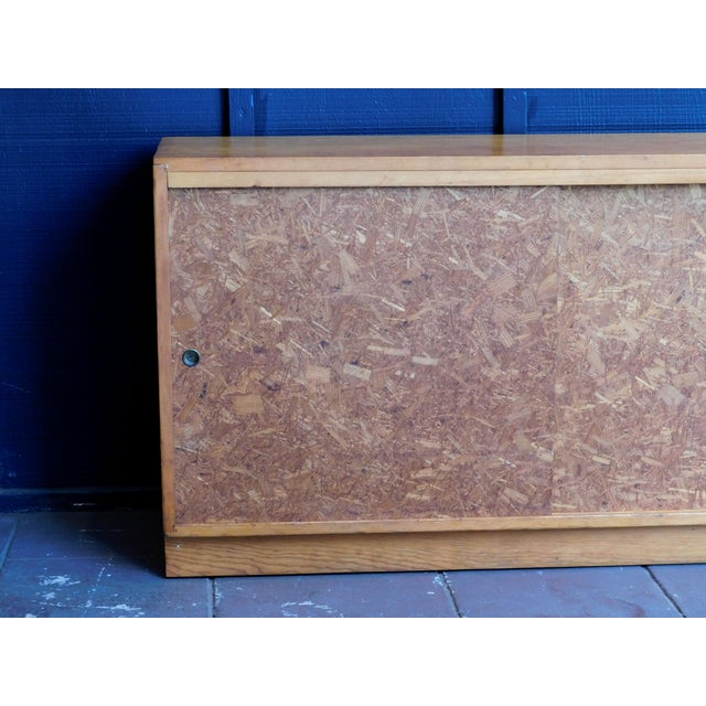 Brown Mid Century Wooden Cabinet For Sale - Image 8 of 9