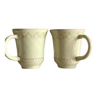 Vietri Bellezza Celadon Coffee Cups - a Pair For Sale