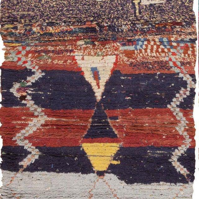 Folk Art Vintage Moroccan Rug - 3′ × 6′6″ For Sale - Image 3 of 6