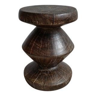 Teak Taro Stool Side Table For Sale