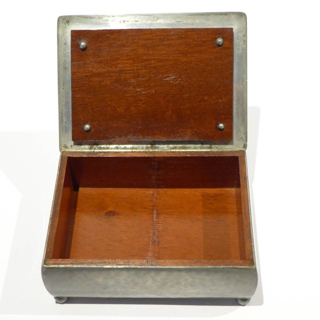 Modernist Footed Pewter Box by Just Andersen For Sale In New York - Image 6 of 8