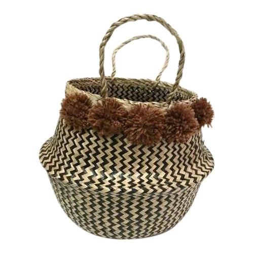 Large Sea Grass Belly Basket - Image 1 of 4