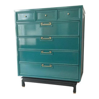 American of Martinsville Ming Lacquered Highboy