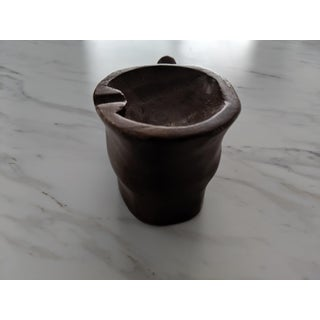 Vintage Mid Century Carved Wood Foot Ashtray Preview