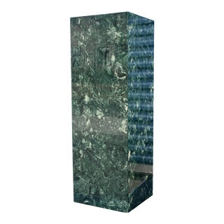 "Emerald Green Cultured Marble 48"" Tall Pedestal"