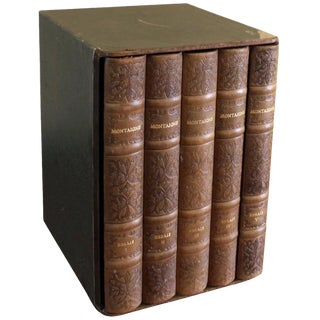 Cased Set of Montaigne Essays - Set of 5 Books