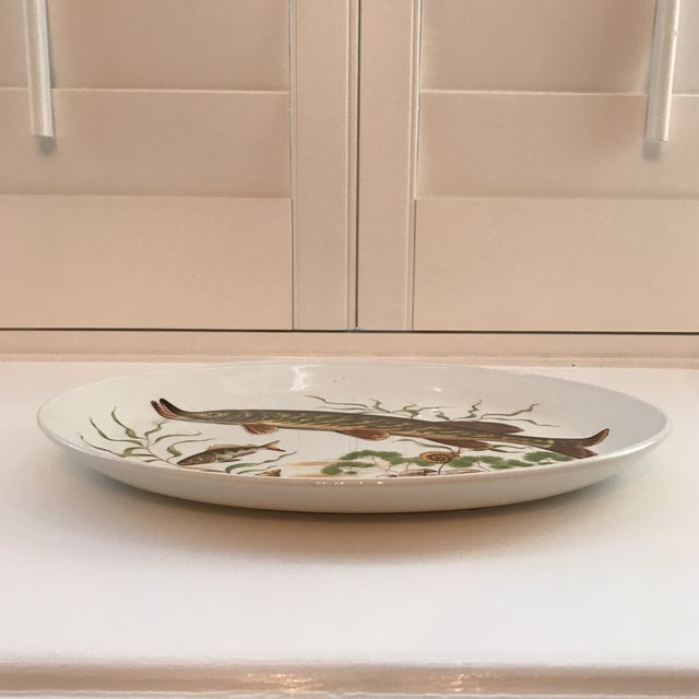 Johnson Brothers 1970s Vintage Johnson Brothers Ironstone Fish/ Stugeon Platter For Sale - Image 4 of 12