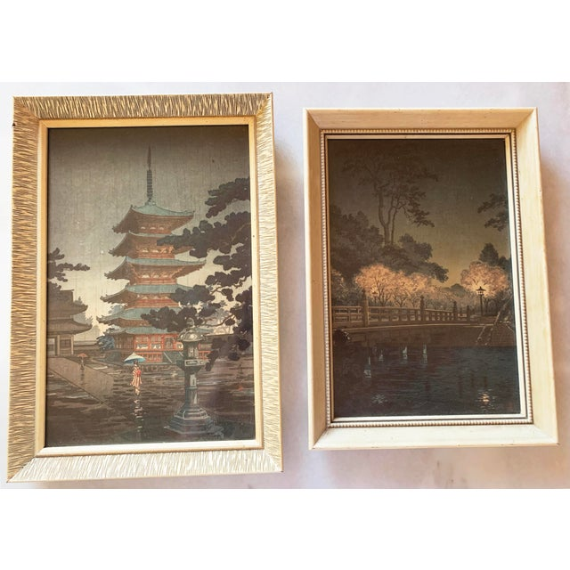 Japanese Japanese Woodblock Framed Reproduction Prints - a Pair For Sale - Image 3 of 13