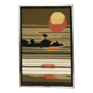 1970s Woven Sunset Wall Art