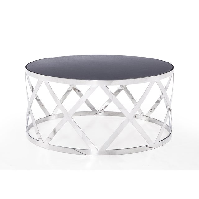 Blink Home Blink Home Black Cocktail Table For Sale - Image 4 of 5
