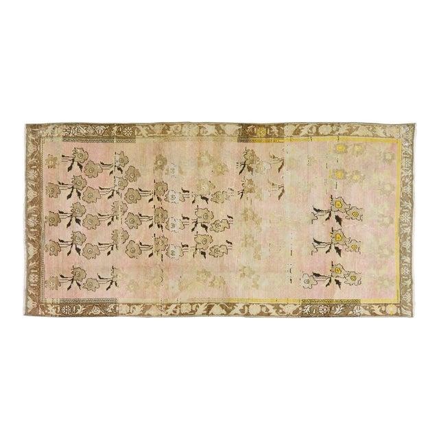 """Vintage Turkish Oushak Rug,4'1""""x8'4"""" - Image 1 of 6"""