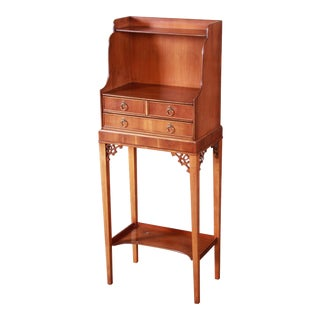 Baker Furniture Chippendale Style Narrow Writing Desk or Entry Table For Sale