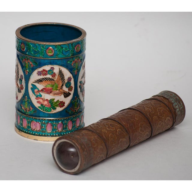 Vintage Peking Brush Pot & Kaleidoscope For Sale In Dallas - Image 6 of 11