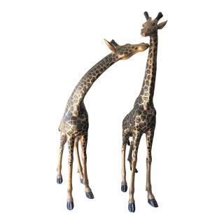 Bronze Giraffe Statues - A Pair
