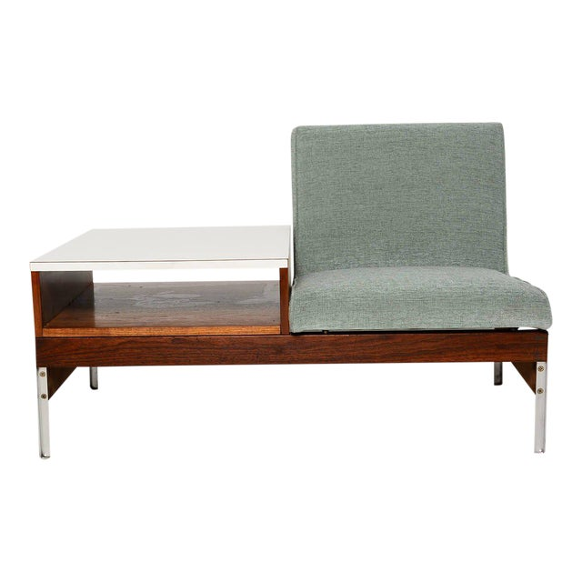 Mid-Century Seat & Table For Sale