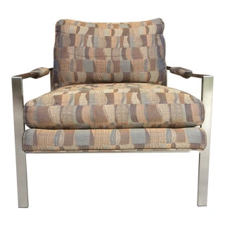 1970s Vintage Milo Baughman Club Chair For Sale