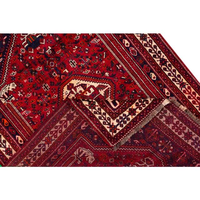 "Islamic Vintage Persian Shiraz Rug, 5'10"" X 8'7"" For Sale - Image 3 of 9"