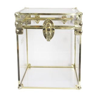 Hand-Made Contemporary Lucite Cube
