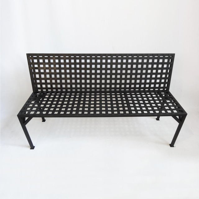 Stupendous Steel Basket Weave Bench Inzonedesignstudio Interior Chair Design Inzonedesignstudiocom