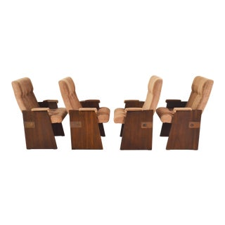 Mid Century Brutalist Dining Chairs by Lane - Set of 4 For Sale