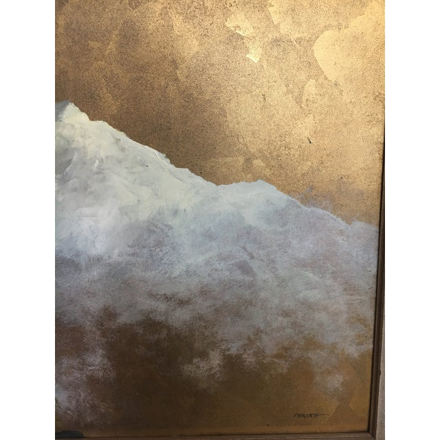 Original Gold Leaf on Masonite Painting by Les Parisch - Grand Tetons For Sale In San Francisco - Image 6 of 12