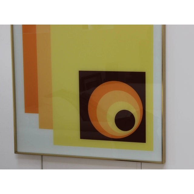Mid 20th Century 1970s Modern Op Wall Art by Turner For Sale - Image 5 of 11