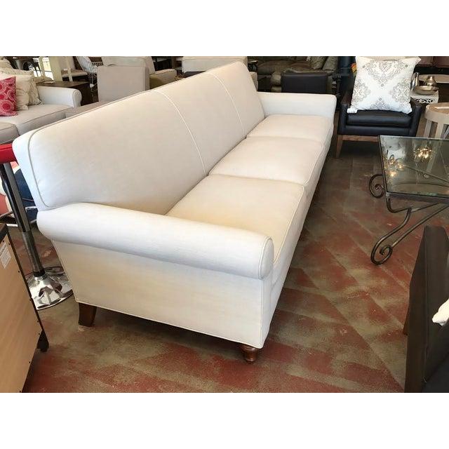 Modern Custom Ivory Sofa - Image 3 of 5