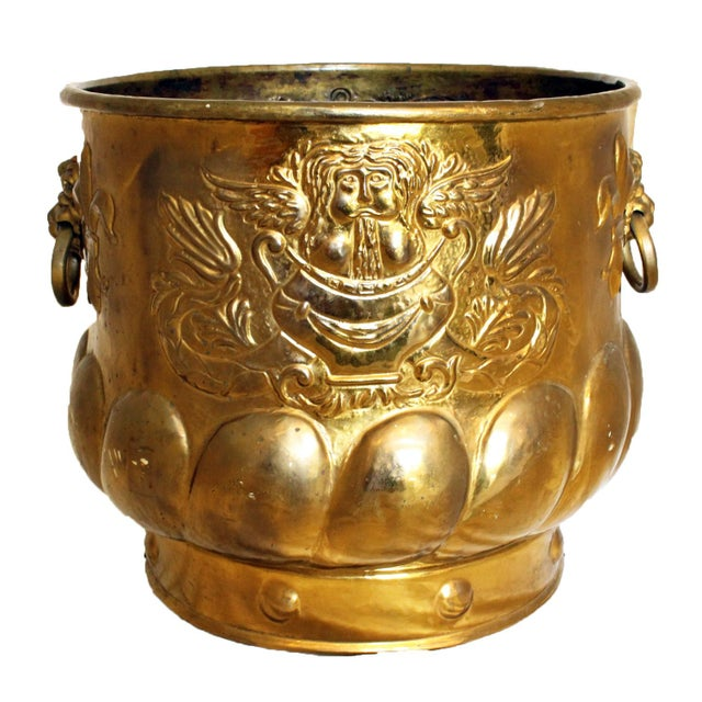 Late 19th Century Antique Brass Jardinere For Sale In Raleigh - Image 6 of 6