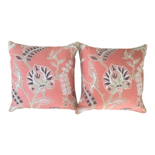 Custom Embroidered Pillows With Down Fill - A Pair