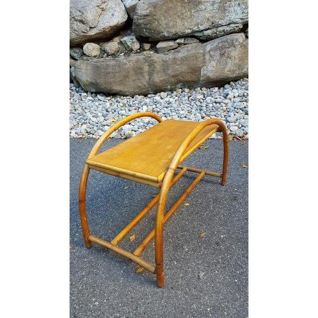 Vintage Paul Frankl Style Rattan Furniture - Set of 5 - Image 8 of 9