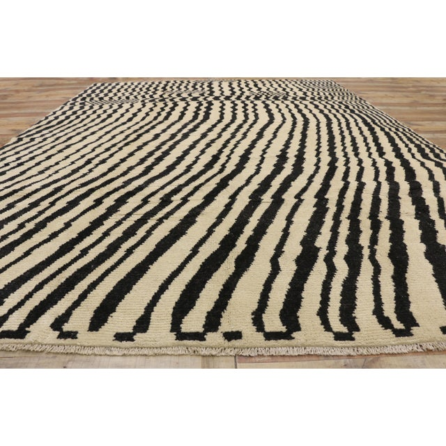 Textile Contemporary Moroccan Area Rug- 10′3″ × 13′10″ For Sale - Image 7 of 10