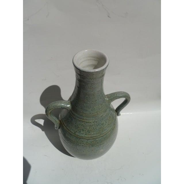 Pastel Blue Stoneware Vase - Image 2 of 3