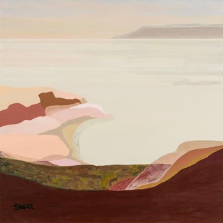 "Contemporary Fine Art Print, ""Apricot Sky"", Angela Seear, 24"" X 24"" For Sale"