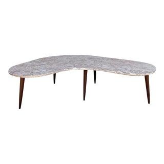 Mid-Century Modern Studio Piece Granite-Top Coffee Table For Sale