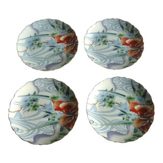 Japanese Floral Luncheon Plates - Set of 4