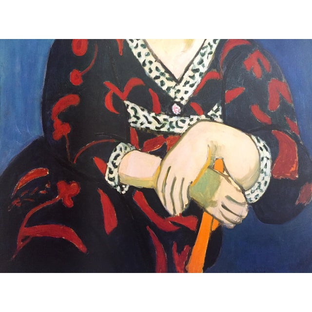 "Henri Matisse Vintage 1991 Lithograph Print Museum Poster "" Madame Matisse Madras Rouge "" 1907 For Sale - Image 9 of 13"