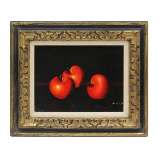 Still Life of Apples- Oil on Canvas For Sale
