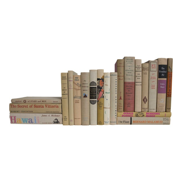 Midcentury Readings in Neutral Book Set - Set of 20 For Sale