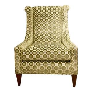 Knox Warren - Custom High Back Chair Duralee Fabric
