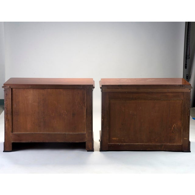 Pair Mahogany Chests With Black Detailing - Image 8 of 11