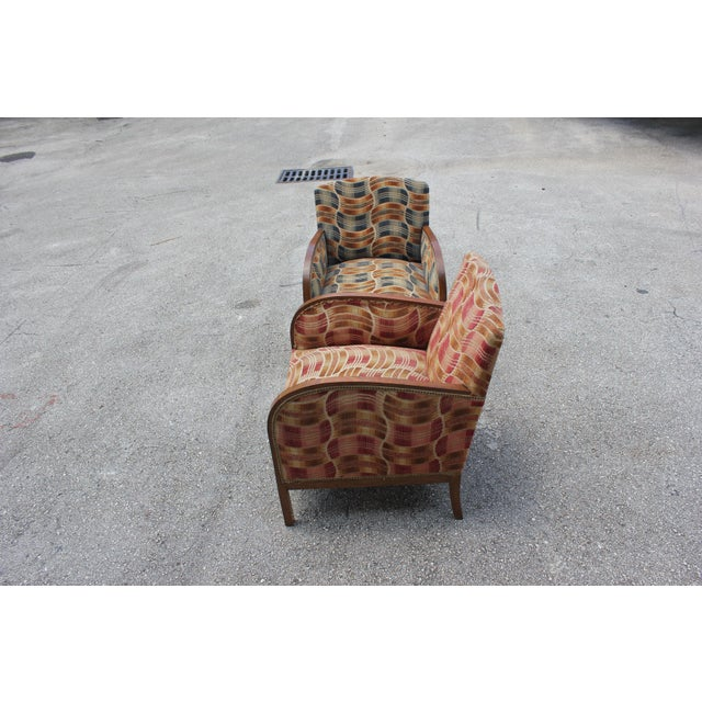 French Art Deco Sold Mahogany Speed Armchairs - A Pair - Image 10 of 11