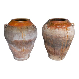 Pair of 19th Century Large Scale Pots For Sale