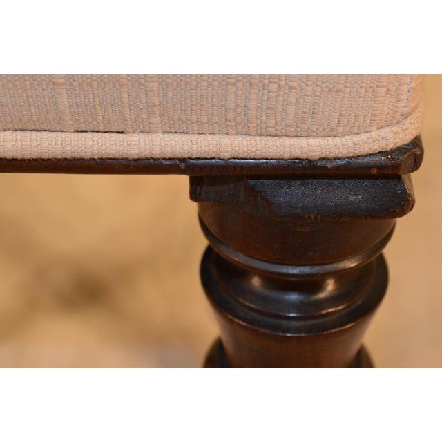 19th Century English Mahogany Stool For Sale - Image 4 of 9