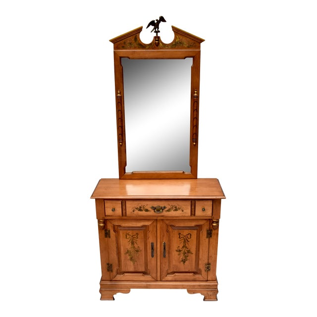 Tell City Furniture Company Young Republic Buffet With Mirror For Sale