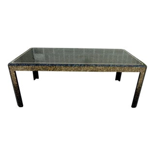 1970s Vintage Maitland-Smith Tessellated Abalone Shell Dining Table For Sale